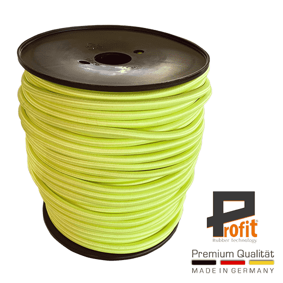 Expandertouw neon geel 8mm op 100 meter rol