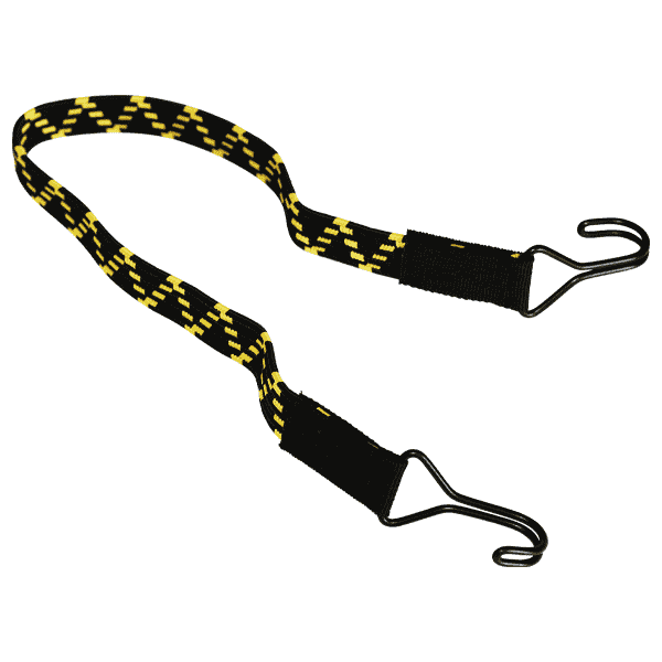 Platte elastische band met 2 haken | metalen haak | expander touw | expander rubber | spanrubber | spanrubber