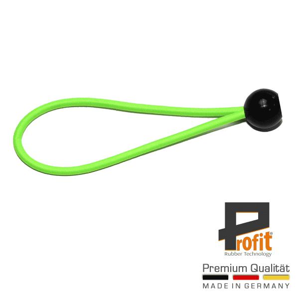 Tent-rubber | spanrubber met bal 180mm | neongroen | neongroen | spanrubber | Winstrubber Technologie