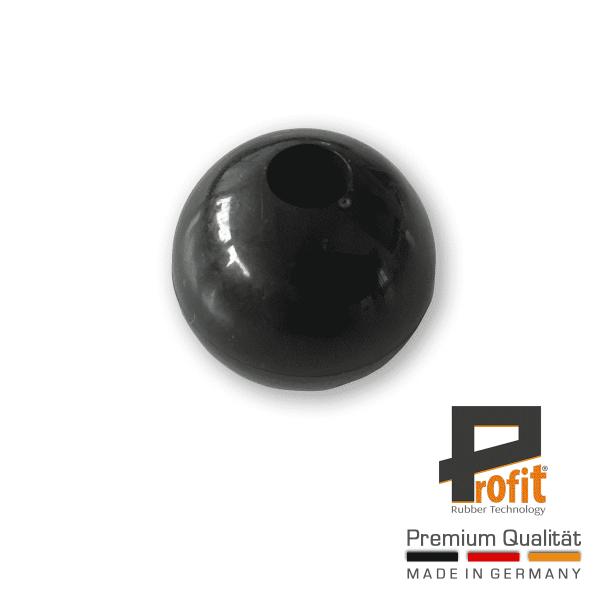 Kugel für Spanngummi schwarz | Kunststoffkugel für Expanderschlingen | Plastikkugel für Spanngummis |