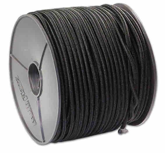 Expanderseil - Expanderseile 100 Meter schwarz - Durchmesser 8mm | Expander | Gummiseil | Profit |