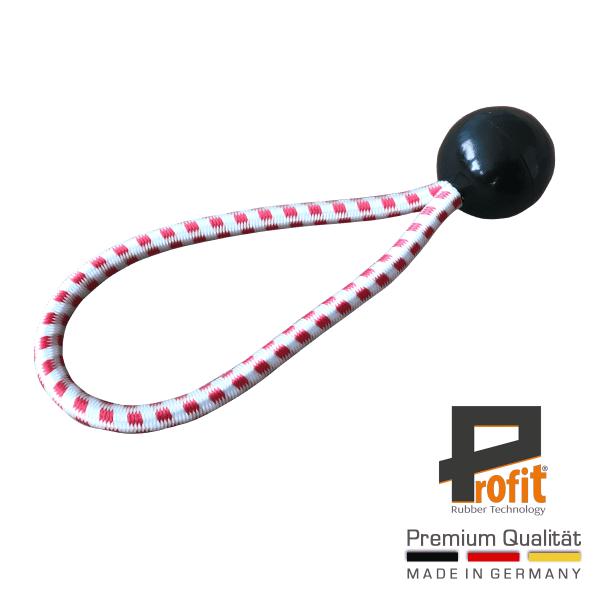 Expander rubber met bal zwart 180mm | Oostenrijk Editie | Spanningslus | Expander lus | Profit Rubber Technologie