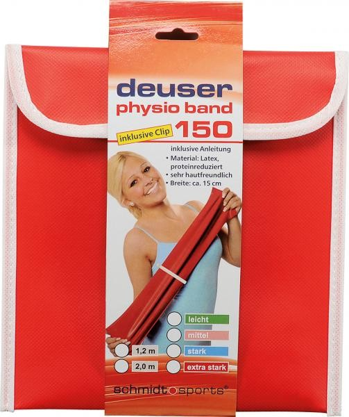 Deuser Physioband 150mm x 2,4m Rood/Extra Sterk