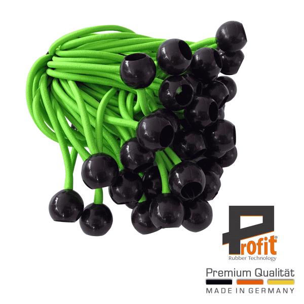 Spanningslussen met kogel 250mm | Neon Groen | Neon Groen | Expander Loops | Spanningsrubbers | Profit Rubber Technologie