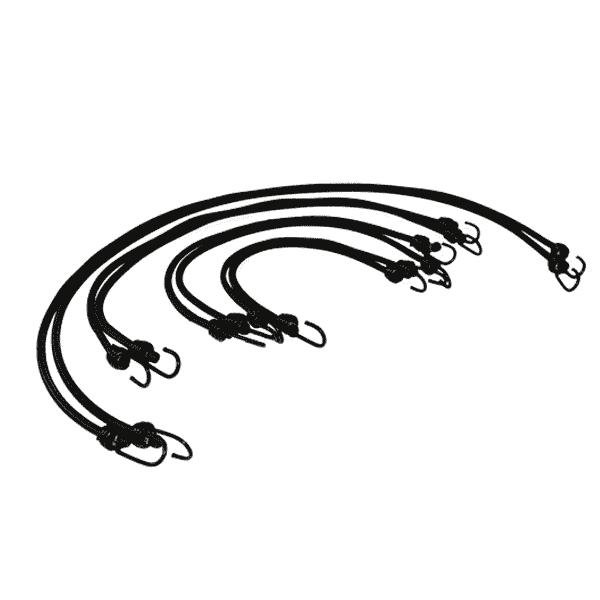 Expanderseil mit 2 Spiralhaken im Set | verschiedene Längen | Expandergummi | Fahrradgummi