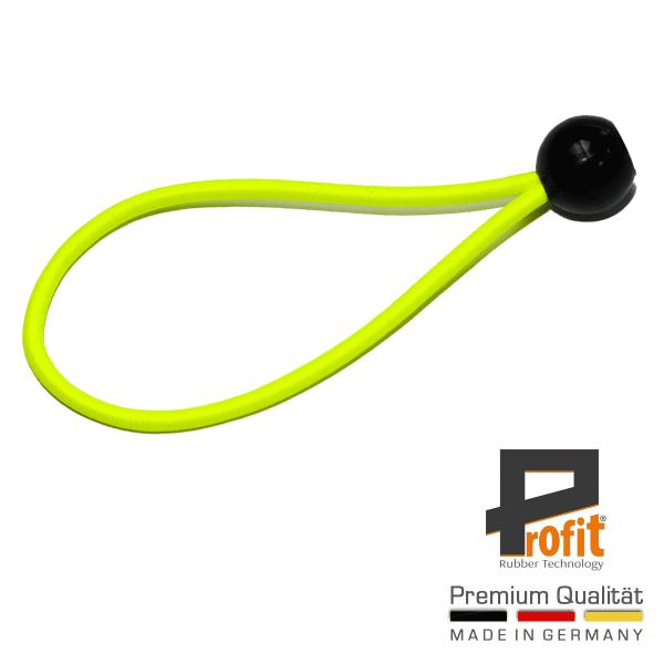 Tent-rubber met bal 200mm neon geel | expandeerlus | spanningsrubber | spanningsrubber | Winstrubber Technologie